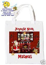 sac shopping noël sac à commissions sac à cadeaux joyeux noel réf 206