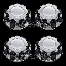 4 CHEVY GMC 8 Lug CHROME Wheel Center Hub Caps Bolt Covers for Alloy & Steel Rim