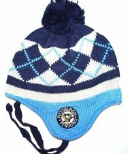 Pittsburgh Penguins CCM Argyle NHL Hockey Pom & Tassel Knit Hat Beanie Toque