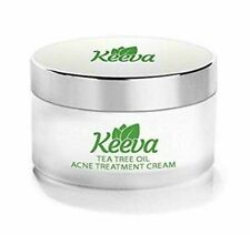 Keeva Organics Acne Treatment Cream With TEA TREE OIL .5oz Perfect For Acne Scar