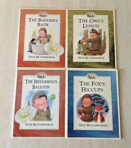 Percy the Park Keeper by Nick Butterworth 4 Books Good Condition