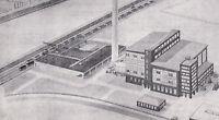 Esslingen bei Stuttgart - Energiewerke (?) - Planskizze um 1950 oder früher (?)