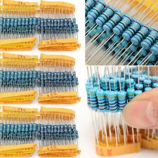 1000pcs 1% 1W Metal Film Resistor 100 Values Assorted Kit 1ohm~10M ohm Tool