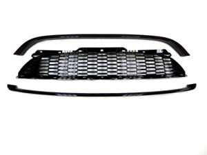 Mesh Front Grille Set for Mini Cooper & One R55 R56 R57 Gloss Black painted