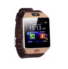 Smart Watch with Camera, Sim Card & Memory Card Slot - Gold