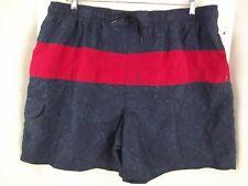 ISLANDER Swim Trunks Paisley Blue Red  Boardshorts Shorts Men's 2XL NWT