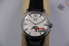 Stylish Sea-Gull M308S white dial ST25 moonphase automatic watch Big Size Blue