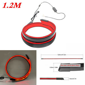 LED Spoiler Wing Brake Lamp Sticker Fit for Car Rear Tail Trunk Roof Gloss Black