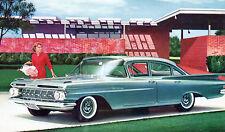 1959 Chevrolet Biscayne 4-Door Sedan Advertising Postcard