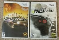 2 Need for Speed games ProStreet & Undercover Nintendo Wii EA Complete Cib Works