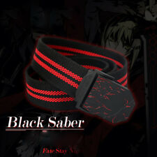 Fate Stay Night Zero Black Saber Anime Canvas Men's Belt Waistband Cosplay Gift