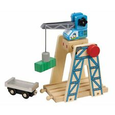 Wooden Railway Loading Crane - Toys Play Train Set 50087 Brio Bigjigs Compatible