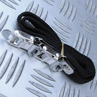 2x FIAMMA BLACK SECURITY STRAPS for BIKE CARRIERS, SECURING OTHER ITEMS EN ROUTE