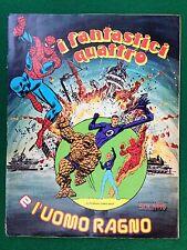 ALBUM Figurine I FANTASTICI QUATTRO E L'UOMO RAGNO Ed.Solaris 1979 - VUOTO !!!