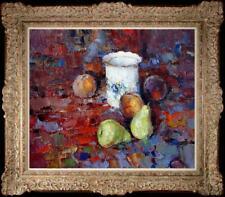 "Hand-painted Original Oil painting art Still Life peach pear On Canvas 20""X24"""