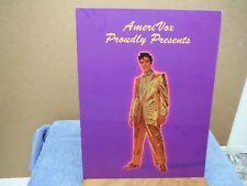 Elvis Presley AmeriVox Phone Card Advertisement Gold Lame Suit