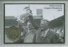 Derby County Vintage Brian Clough League Champions Retro Coin Fan Gift Set 1972