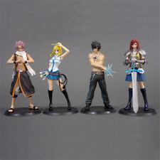 4pcs Anime Fairy Tail Natsu Dragneel Gray Lucy Erza PVC Figure Toy New No Box