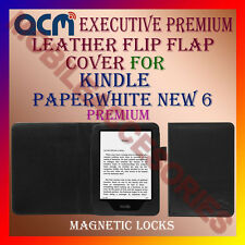 ACM-EXECUTIVE LEATHER FLIP CASE for KINDLE PAPERWHITE 3RD GEN 2015 TABLET COVER