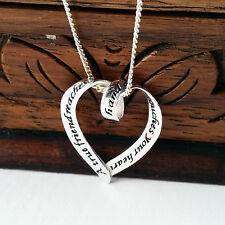 925 Sterling Silver Necklace with A True Friend pendant gift uk best