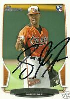 L.J. Hoes Signed Auto 2013 Bowman Baltimore Orioles Rookie Card - COA - Astros