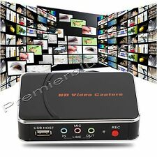 1080P HD PVR Game Video Capture HDMI/YPBPR Recorder For Xbox360 One Live PS3 PS4
