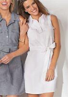 NEW Mud Pie WOMEN'S SIZE M (8-10) Marley SHIRTDRESS WHITE Classic DRESS