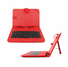 Premium GERMAN QWERTZ Keyboard Case with Stand for Sony Xperia Z2 Tablet in Red