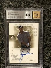 2001 UD SP Authentic Stars Tiger Woods SPA Rookie GOLD Auto 93/100 BGS 8.5 10 RC