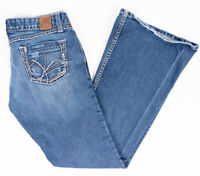 BKE Buckle Star Flair Stretch Low Rise Womens Jeans Medium Wash Size 28/31