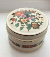 Vintage Sadler Trinket Pot/Sugar Dish. Sadler. With Lid 7x9 Cm. Floral