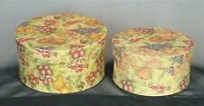 Set of 2 - Storage Boxes w/Lids Vintage Paper Design