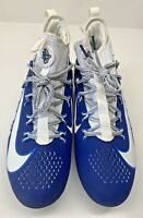 Nike Alpha Huarache 6 Elite Lacrosse Cleats 880409-104 LAX White/Blue Men Sz 9.5