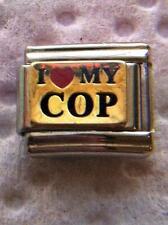 """I LOVE MY COP"" 9MM ITALIAN CHARM- POLICE, METRO, OFFICER, COUPLE"