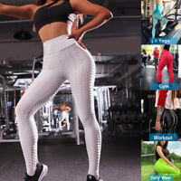 Women Lady's Yoga Pants Fitness Ruched Slim Gym Leggings Stretch Sport Trousers