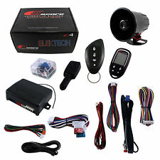 Encore E4 2-way 4-Channel Car Alarm w/4-Button LCD Transmitter & 2 Stage Sensor
