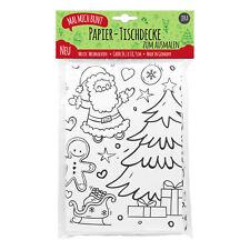 Papier-Tischdecke zum Ausmalen zu Weihnachten, Kindertischdecke Weihnachten Deko