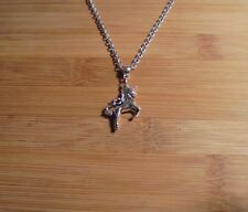 3D Unicorn Charm Silver Chain 20 Inch Necklace**~Free Ship