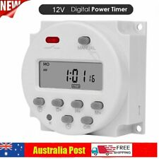 DC 12V Timer Switch Digital Programmable Control LCD Time Relay Day/Week Set