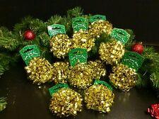32 x Stick On Confetti Bows+4 Ribbon Cops Christmas Xmas Festive Gift Wrap Decor