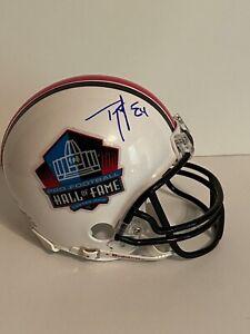 Ty Law Hall Of Fame Signed Mini Helmet JSA FF00809