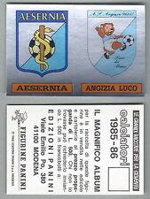 SCUDETTI CALCIATORI PANINI 1985/86 - NUOVI/NEW N.603 AESERNIA/ANGIZIA LUCO