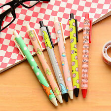 6Pcs Cartoon Korean Style Office School ball pens cute gel Ink Stationary Supply