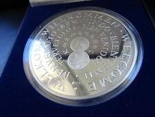 250 Gramm Silber Silver Argent 999 Medaille Willkommen Euro Silbermedaille Medal