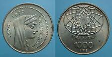REPUBBLICA ITALIANA 1000 LIRE 1970 R ROMA CAPITALE FDC 2