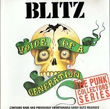 BLITZ - VOICE OF A GENERATION CD (1982) UK OI-PUNK / FIRST CD-EDITION, NO FUTURE