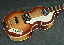 Hofner HCT 500/1 BEATLE BASS VINTAGE LOOK CUSTOM CONVERSION FLATS & Tea Cups NEW