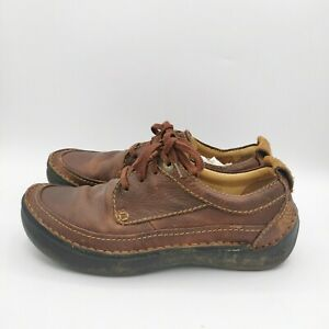 Clarks Mens Active Air Comfort Brown Leather Lace Up Shoes - UK 8.5