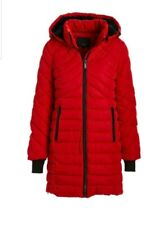 Steve Madden - Red Quilted Side-Zip Parka - Women & Plus - Size: 1X