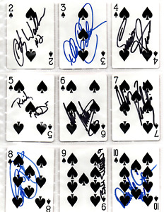 1992 NASCAR original hand signed autographed Winston playing card set